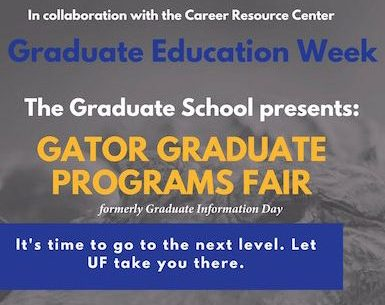 Gator Graduate Fair, October 31.